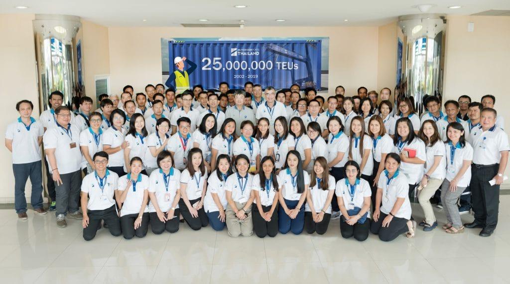 ฮัทชิสัน พอร์ท ประเทศไทย ขนถ่ายตู้สินค้าผ่านท่าครบ 25 ล้านทีอียู
