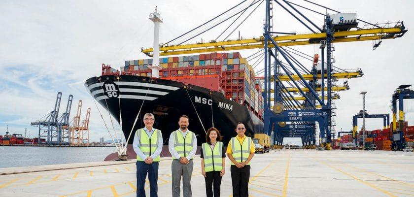 ท่าเทียบเรือชุด D ของฮัทชิสัน พอร์ท ต้อนรับเรือ 'MSC MINA' หนึ่งในเรือขนส่งตู้สินค้าขนาดใหญ่ที่สุดในโลก