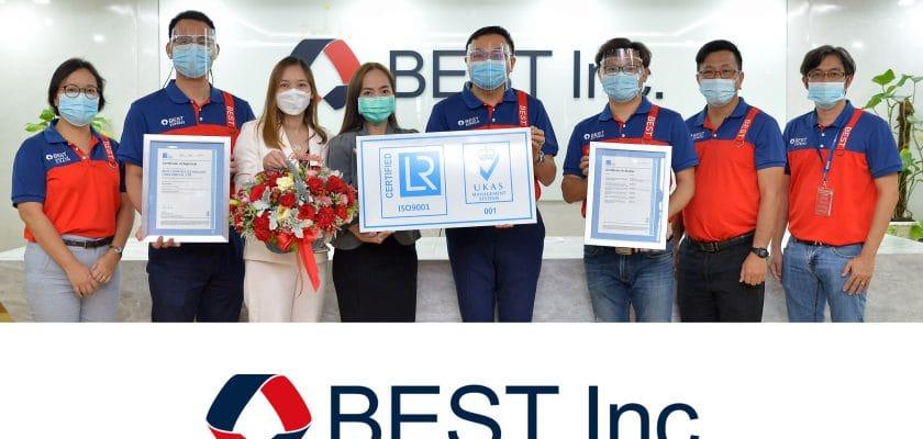 เบสท์ โลจิสติกส์ เทคโนโลยี (ประเทศไทย) จำกัด ได้รับมาตรฐานสากล ISO 9001:2015